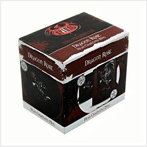 DRAGON ROSE - Heat Change Ceramic Coffee Mug Black